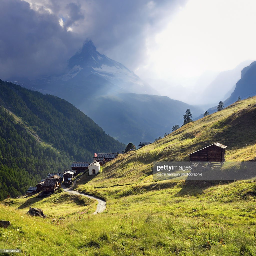 Storm on Matterhorn : Stock Photo