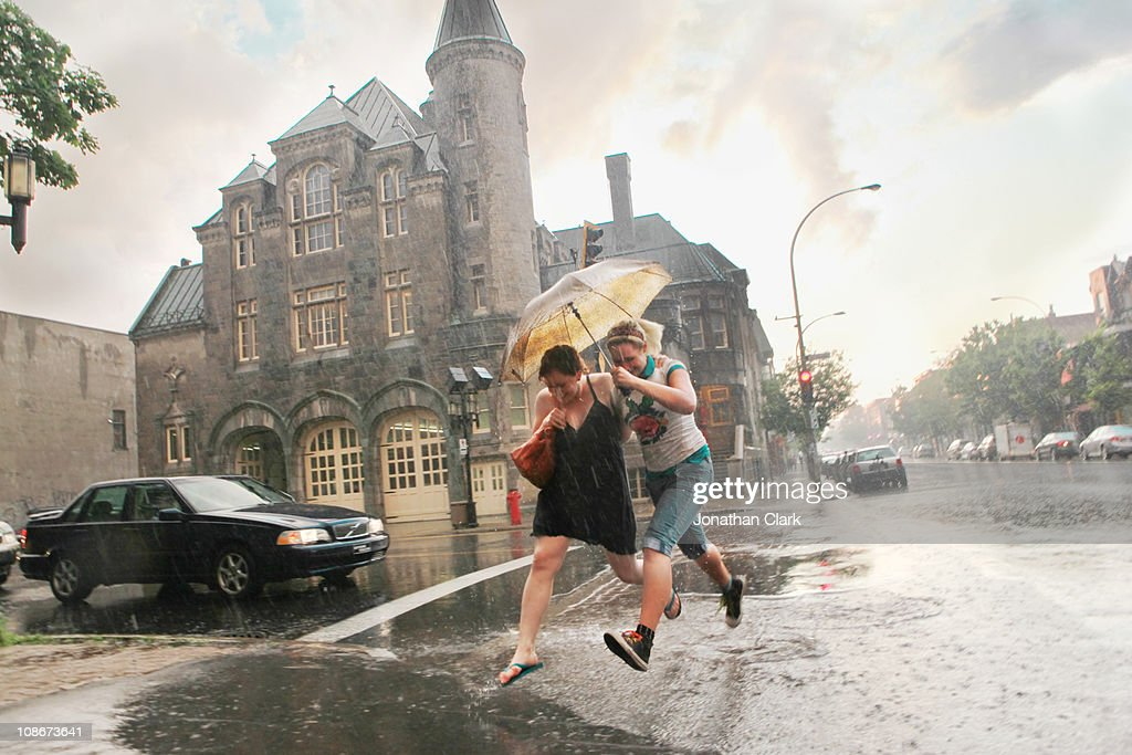 Storm on Street : Stock Photo