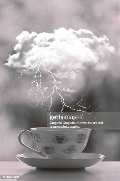 storm over a teacup - gregoria gregoriou crowe fine art and creative photography. fotografías e imágenes de stock