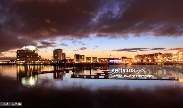storm over cardiff bay - cardiff wales stock pictures, royalty-free photos & images