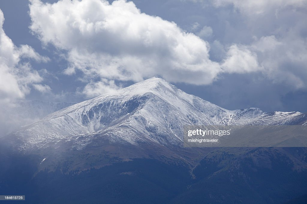 Storm over Mount Elbert Colorado Sawatch Mountains Horizontal : Stock Photo