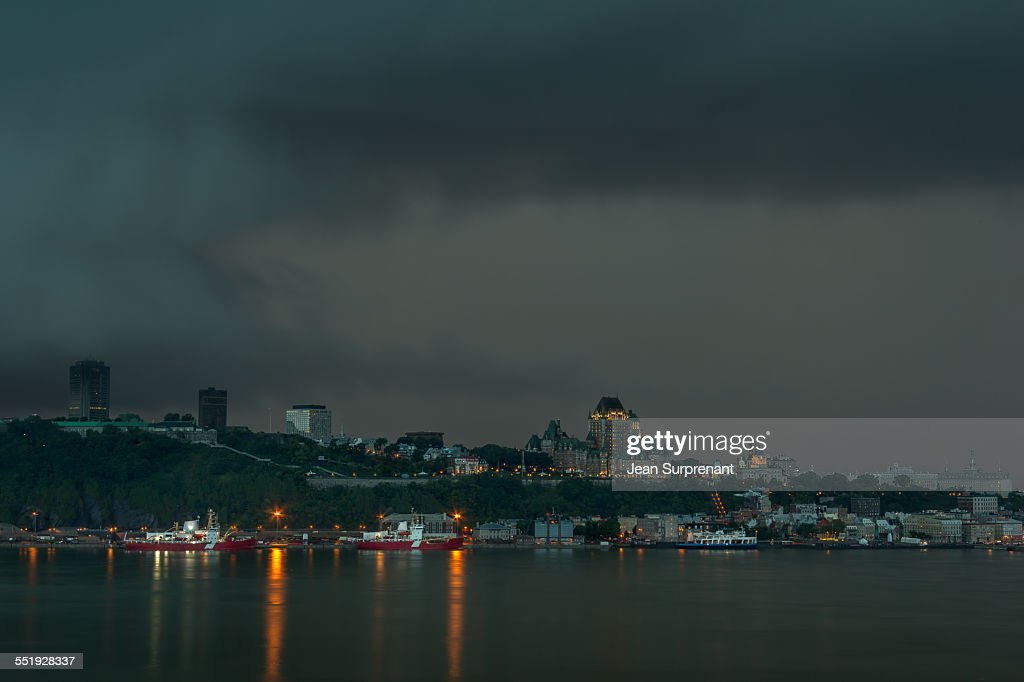 Storm over Quebec City : Stock Photo