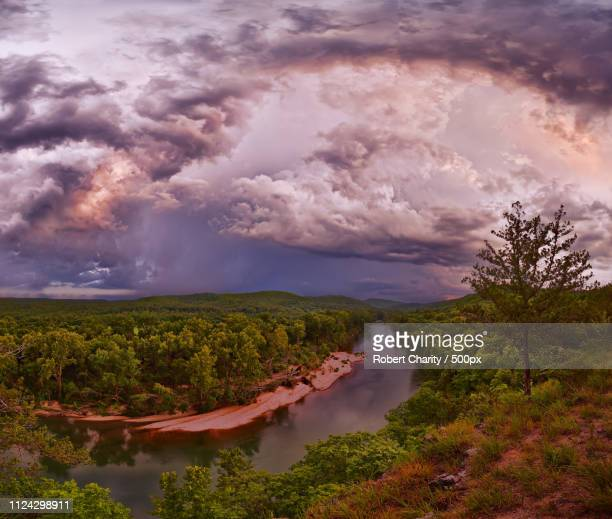 storm over the current river - ozark mountains stock pictures, royalty-free photos & images