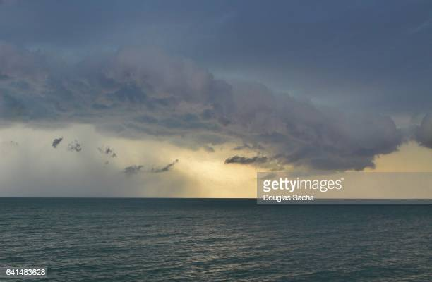 storm over the water - el nino stock pictures, royalty-free photos & images