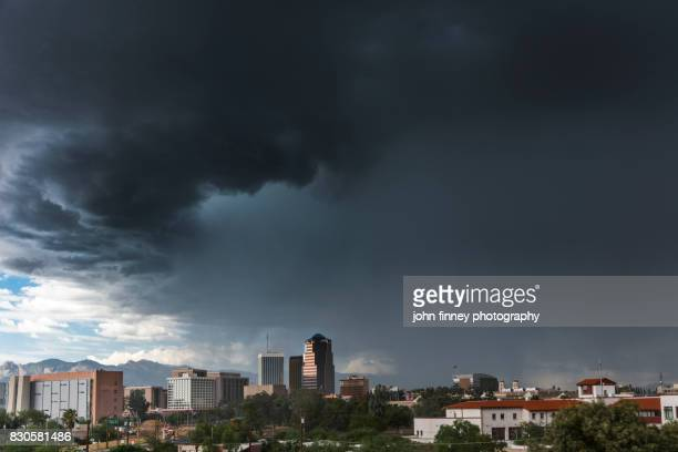 storm over tucson, south arizona - monsoon stock pictures, royalty-free photos & images