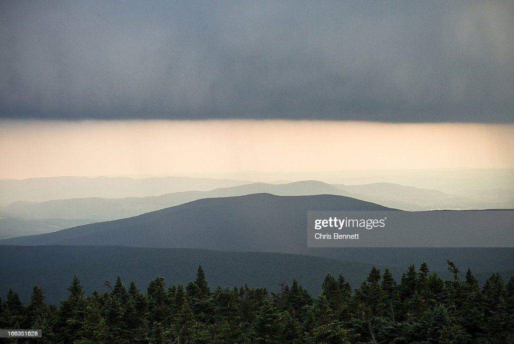 A storm passes over the Appalachian Mountains in Vermont. : Stock Photo