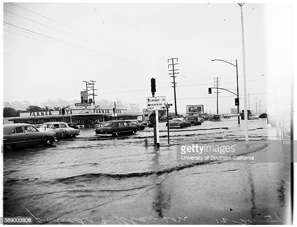 Storm Picture Venice and vicinity Firestone Boulevard and vicinity of Downey Collapsed wall of 343 Commonwealth Avenue Tree on car at 4803 1/2...