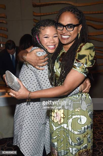 Storm Reid and Ava DuVernay attend as PEOPLE celebrates Disney's A Wrinkle In Time at Per Se on March 7 2018 in New York City