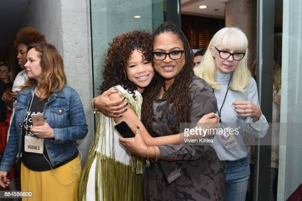 Storm Reid and Ava DuVernay attend The Teen Vogue Summit LA Keynote Conversation with A Wrinkle In Time director Ava Duvernay and actresses Rowan...