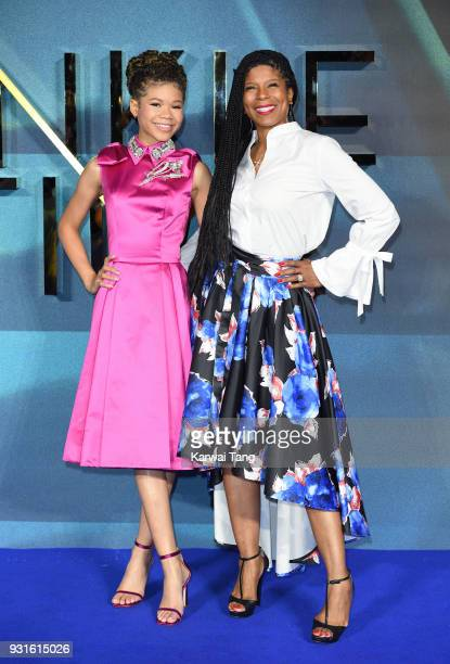 Storm Reid and mother Janice Reid attend the European Premiere of 'A Wrinkle In Time' at BFI IMAX on March 13 2018 in London England