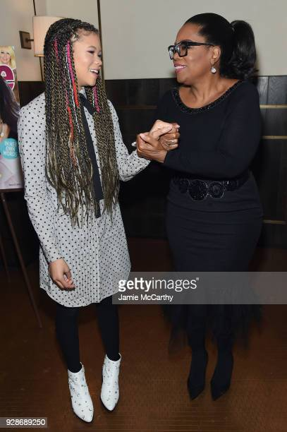 Storm Reid and Oprah Winfrey attend as PEOPLE celebrates Disney's A Wrinkle In Time at Per Se on March 7 2018 in New York City