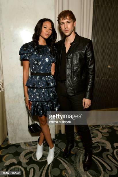 Storm Reid and Tommy Dorfman attends the GLSEN Respect Awards at the Beverly Wilshire Four Seasons Hotel on October 19 2018 in Beverly Hills...