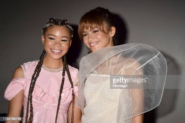Storm Reid and Zendaya attend HBO's Euphoria premiere after party at Neuehouse on June 04 2019 in Los Angeles California