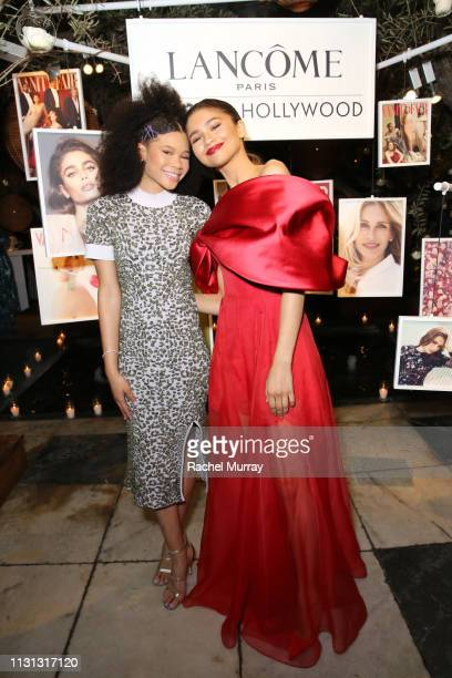Storm Reid and Zendaya attends Vanity Fair and Lancôme Toast Women In Hollywood on February 21 2019 in West Hollywood California