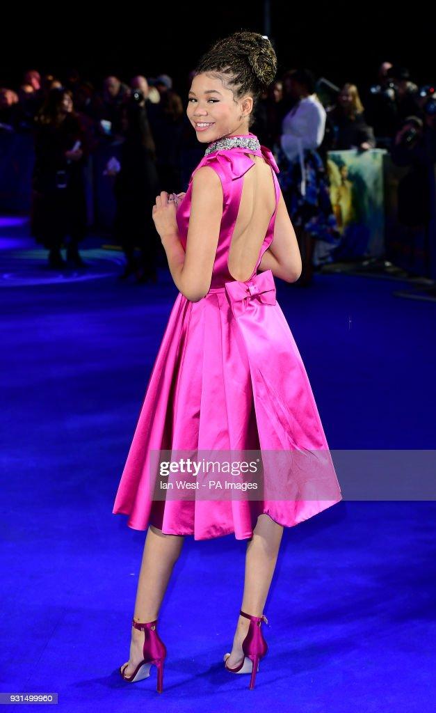 Storm Reid attending the A Wrinkle In Time European Premiere held at BFI IMAX in Waterloo, London.