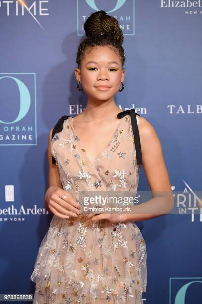 Storm Reid attends as O The Oprah Magazine hosts special NYC screening of A Wrinkle In Time at Walter Reade Theater at Walter Reade Theater on March...