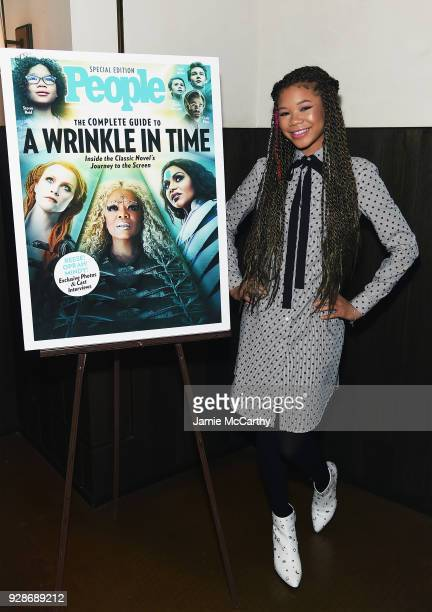 Storm Reid attends as PEOPLE celebrates Disney's A Wrinkle In Time at Per Se on March 7 2018 in New York City
