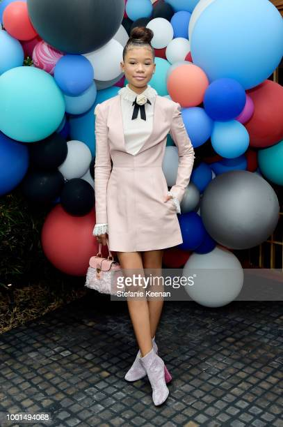 Storm Reid attends David Yurman Pinky Ring Event on July 18 2018 in Los Angeles California