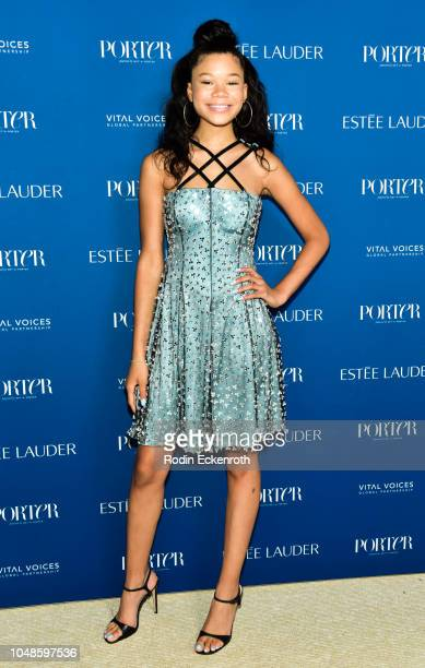 Storm Reid attends PORTER's Incredible Women Gala 2018 at Ebell of Los Angeles on October 9 2018 in Los Angeles California