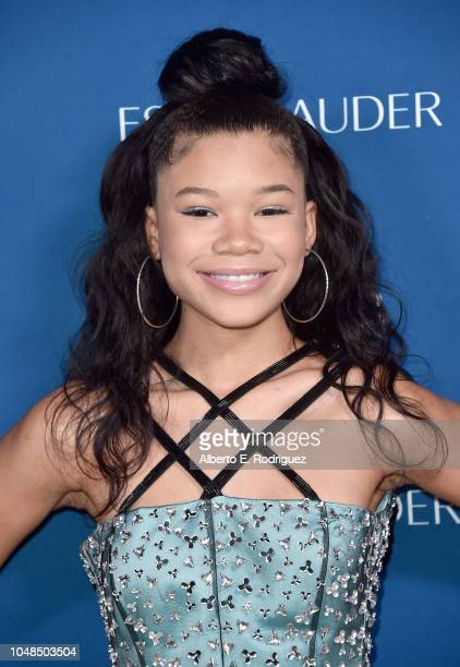 Storm Reid attends PORTER's Third Annual Incredible Women Gala at The Ebell of Los Angeles on October 9 2018 in Los Angeles California