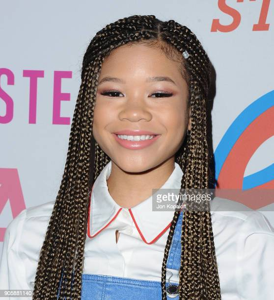 Storm Reid attends Stella McCartney's Autumn 2018 Collection Launch on January 16 2018 in Los Angeles California