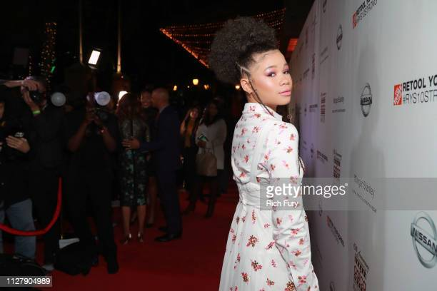 Storm Reid attends the 10th annual AAFCA Awards at Taglyan Complex on February 06 2019 in Los Angeles California
