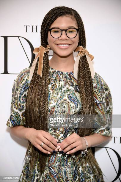 Storm Reid attends The 2018 DVF Awards at United Nations on April 13 2018 in New York City