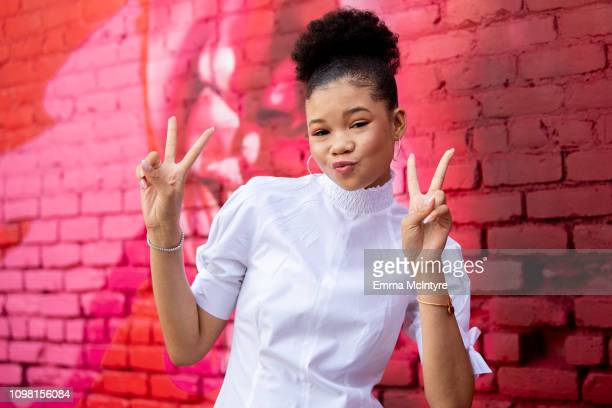 Storm Reid attends the 3rd annual National Day of Racial Healing at Array on January 22 2019 in Los Angeles California