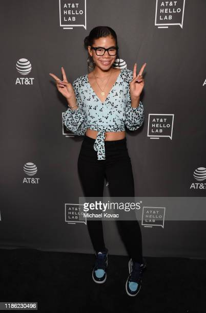 Storm Reid attends the ATT Filmmaker Mentorship Program Premiere at NeueHouse Los Angeles on November 07 2019 in Hollywood California