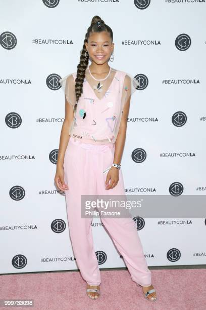 Storm Reid attends the Beautycon Festival LA 2018 at the Los Angeles Convention Center on July 15 2018 in Los Angeles California