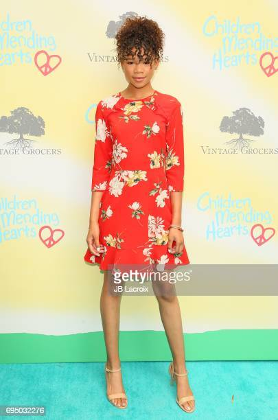 Storm Reid attends the Children Mending Hearts 9th Annual Empathy Rocks Fundraiser on June 11 2017 in Beverly Hills California