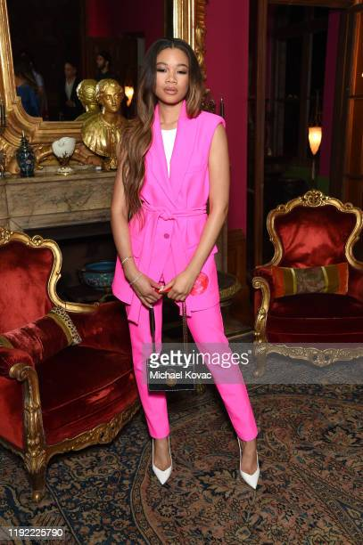 Storm Reid attends the Christian Louboutin Laura Brown Celebrate The Debut Of The 'ELISA' at The Paramour Estate on December 05 2019 in Los Angeles...