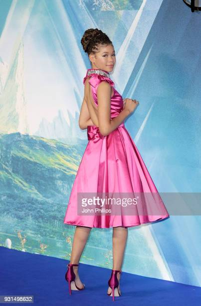 Storm Reid attends the European Premiere of 'A Wrinkle In Time' at BFI IMAX on March 13 2018 in London England