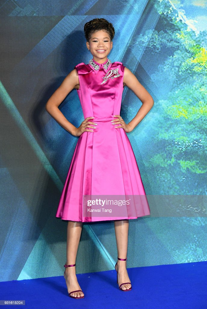 Storm Reid attends the European Premiere of 'A Wrinkle In Time' at BFI IMAX on March 13, 2018 in London, England.