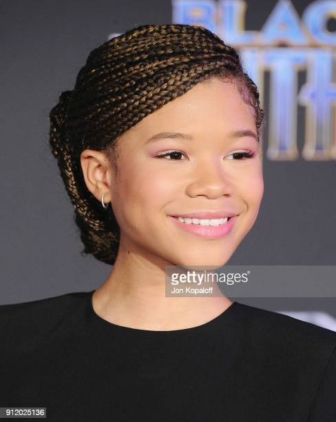 Storm Reid attends the Los Angeles Premiere 'Black Panther' at Dolby Theatre on January 29 2018 in Hollywood California