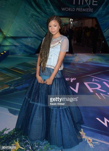 Storm Reid attends the premiere of Disney's 'A Wrinkle In Time' at the El Capitan Theatre on February 26 2018 in Los Angeles California