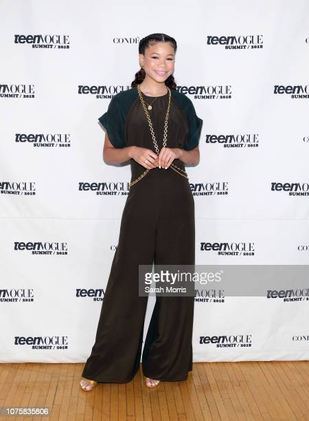 Storm Reid attends the Teen Vogue Summit at 72andSunny on December 1 2018 in Los Angeles California