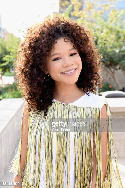 Storm Reid attends The Teen Vogue Summit LA Keynote Conversation with A Wrinkle In Time director Ava Duvernay and actresses Rowan Blanchard and Storm...