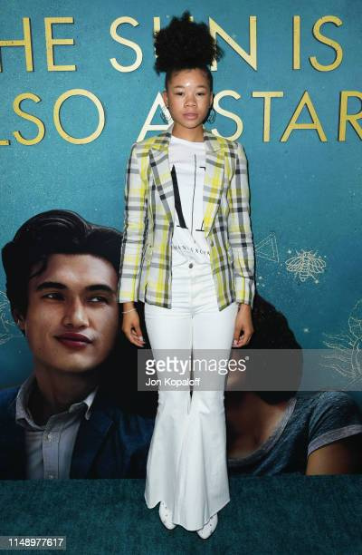 Storm Reid attends the World Premiere Of Warner Bros The Sun Is Also A Star at Pacific Theaters at the Grove on May 13 2019 in Los Angeles California