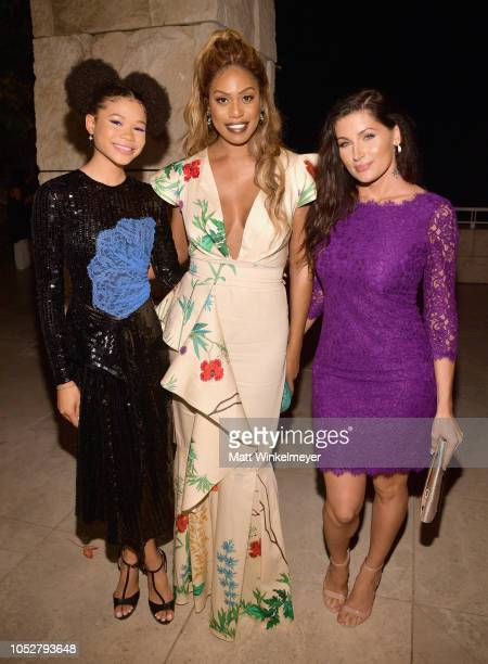 Storm Reid Laverne Cox and Trace Lysette attend the 2018 InStyle Awards at The Getty Center on October 22 2018 in Los Angeles California