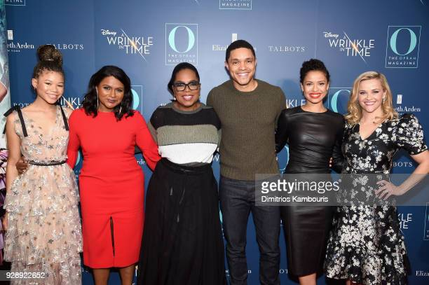 Storm Reid, Mindy Kaling, Oprah Winfrey, Trevor Noah, Gugu Mbatha-Raw and Reese Witherspoon attend as O, The Oprah Magazine hosts special NYC...