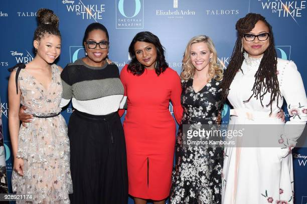 Storm Reid Oprah Winfrey Mindy Kaling Reese Witherspoon and Ava DuVernay attend as O The Oprah Magazine hosts special NYC screening of A Wrinkle In...