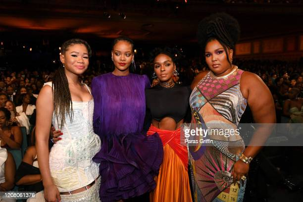 Storm Reid Rihanna Janelle Monae and Lizzo speak during the 51st NAACP Image Awards Presented by BET at Pasadena Civic Auditorium on February 22 2020...