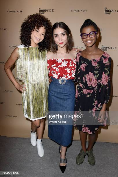 Storm Reid Rowan Blanchard and Marley Dias attend The Teen Vogue Summit LA Keynote Conversation with A Wrinkle In Time director Ava Duvernay and...