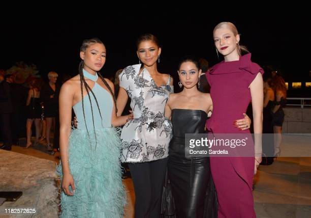 Storm Reid Zendaya Alexa Demie and Hunter Schafer attend the Fifth Annual InStyle Awards at The Getty Center on October 21 2019 in Los Angeles...