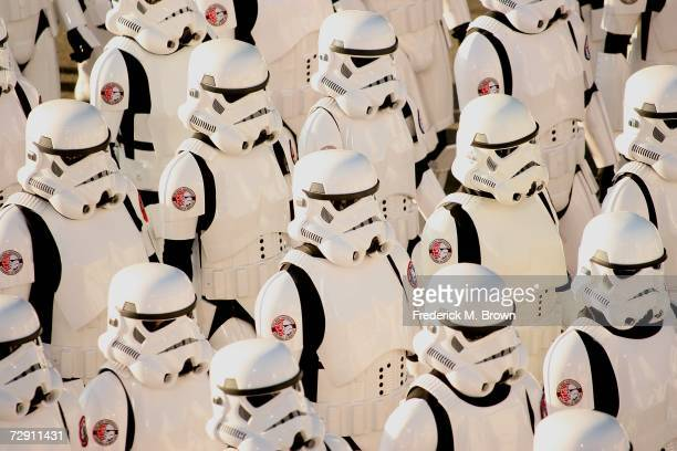 Storm Troopers perform during the 118th Tournament of Roses Parade on January 1 2007 in Pasadena California