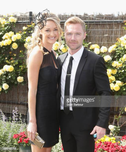 Storm Uechritz and Ronan Keating attend Derby Day at Flemington Racecourse on November 3 2012 in Melbourne Australia