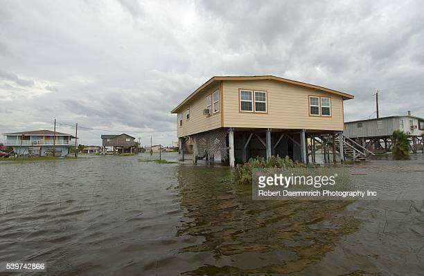 Storm water from Hurricane Rita floods the beach community of Surfside Beach in Brazoria County early Friday afternoon Friday Sept 23 while awating...