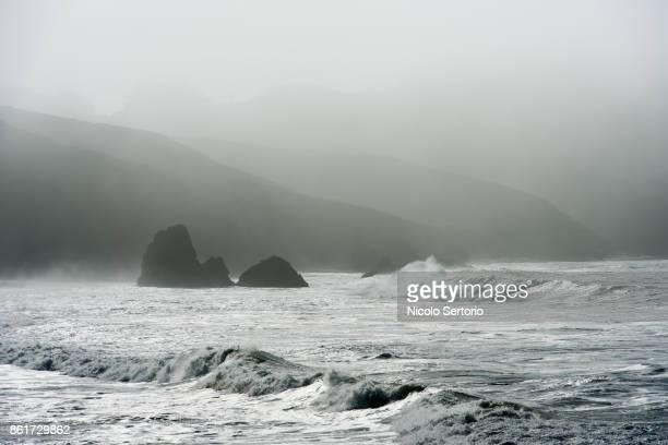Storm waves on California coast