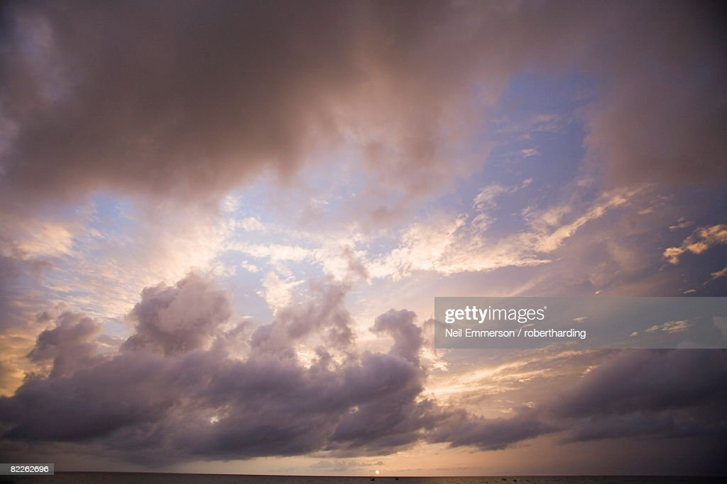 Storm, West Coast, Barbados, West Indies, Caribbean, Central America : Stock Photo